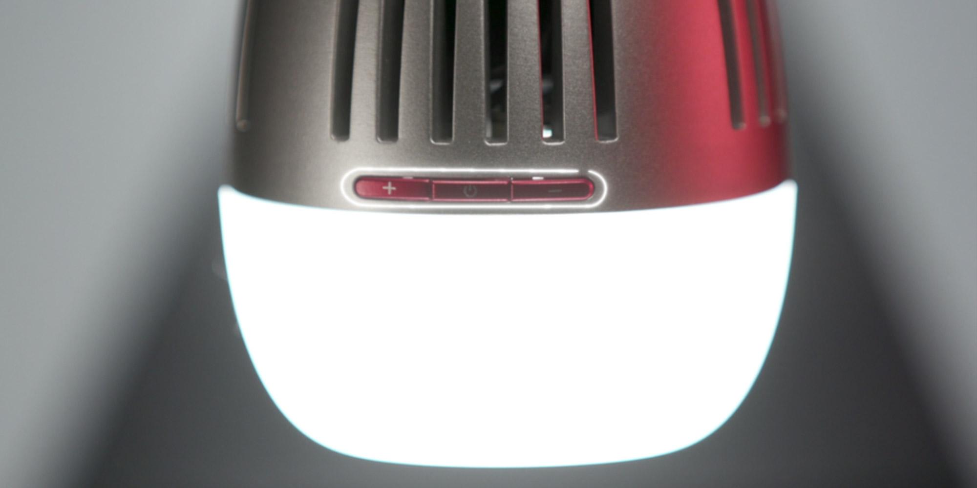 Trzy przyciski sterujące funkcjami żarówki LED Aputure Accent B7c