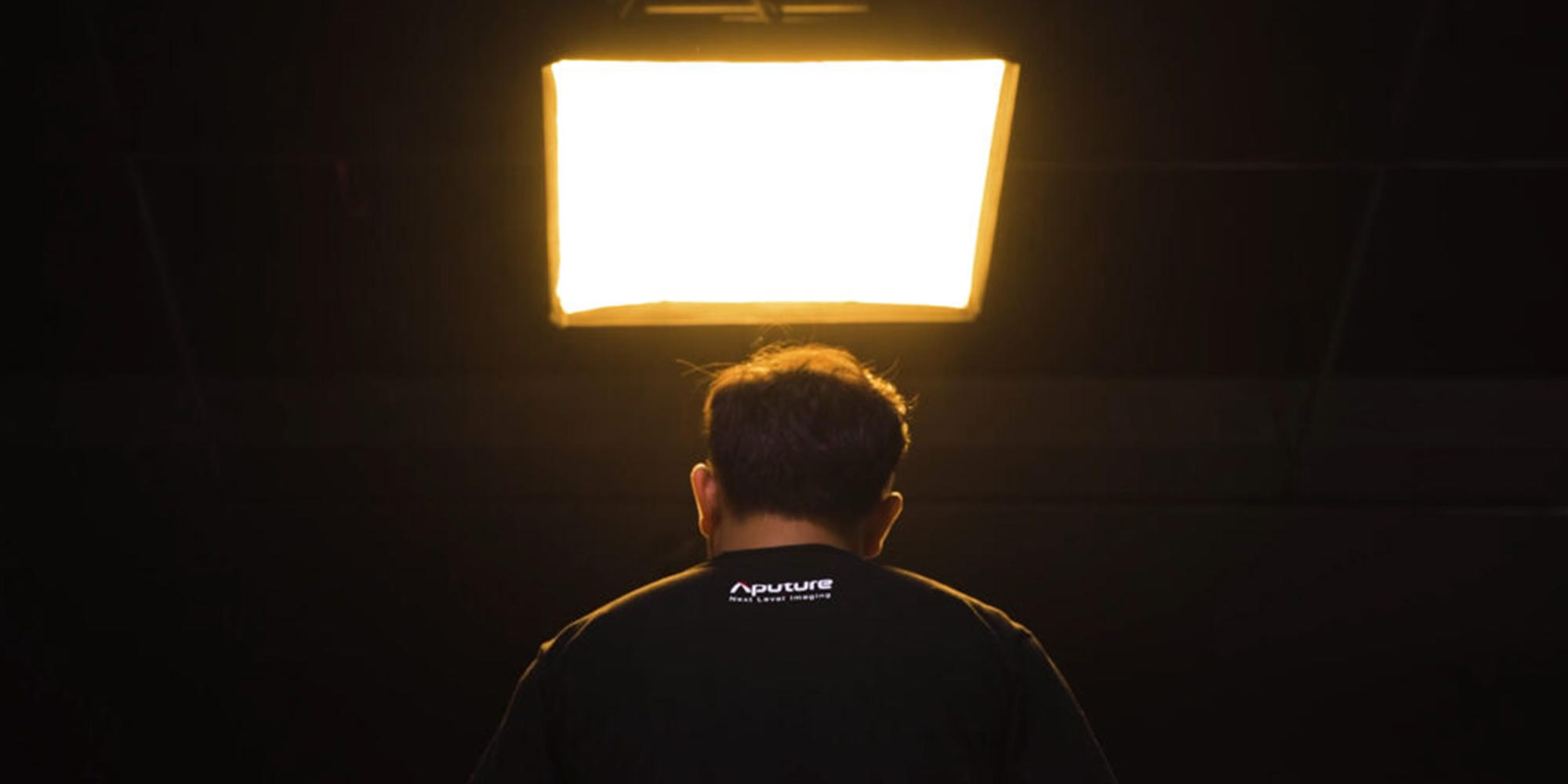 Softbox Aputure Nova do lamp P300c w użyciu