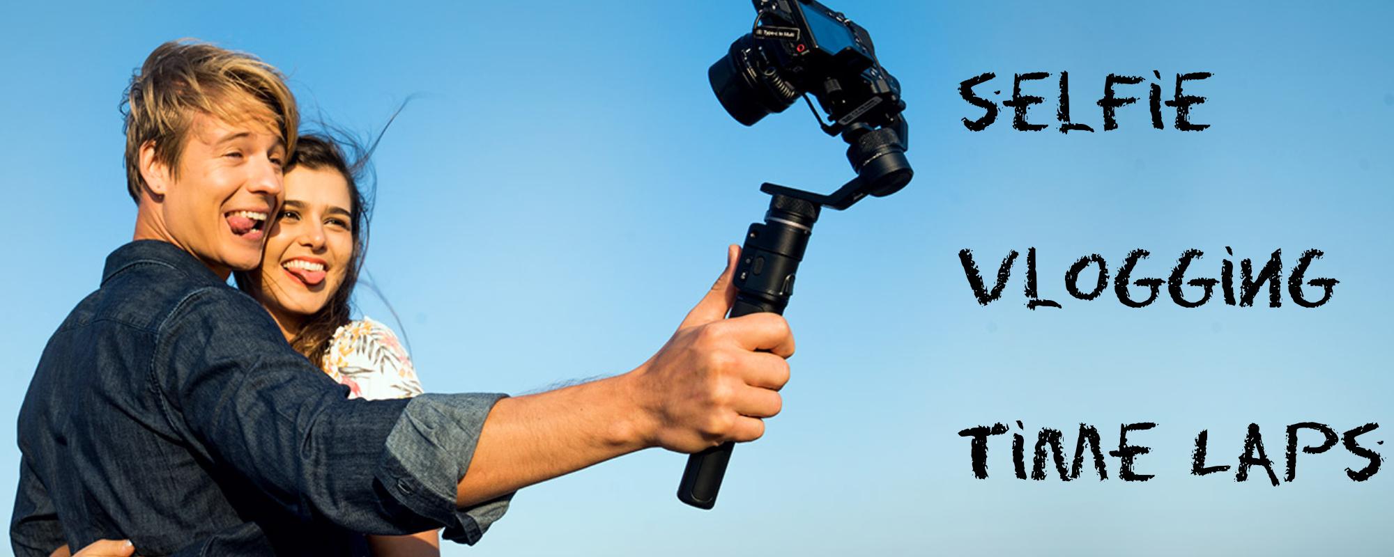 Para robi sobie selfie aparatem umieszczonym na gimbalu G6 MAX