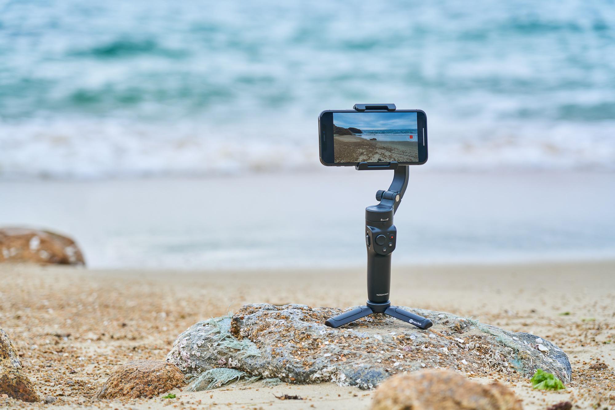 Gimbal nagrywa panorame plaży