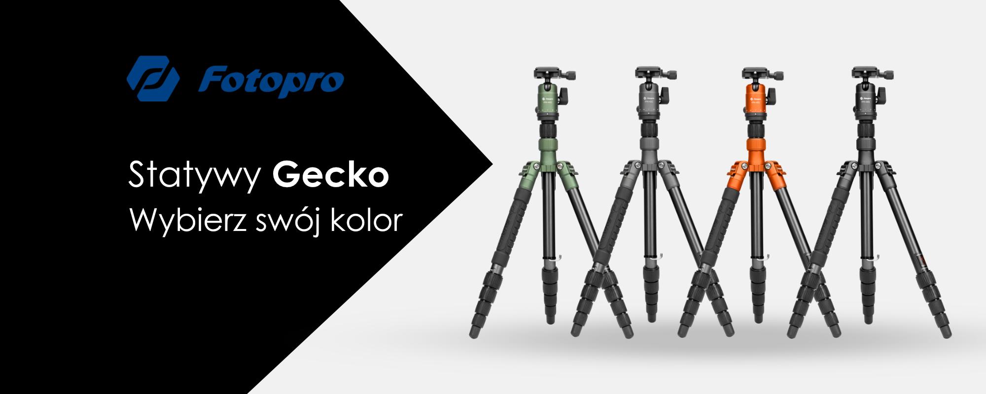 Statyw Fotopro X-go Gecko z głowicą kulową FPH-42Q