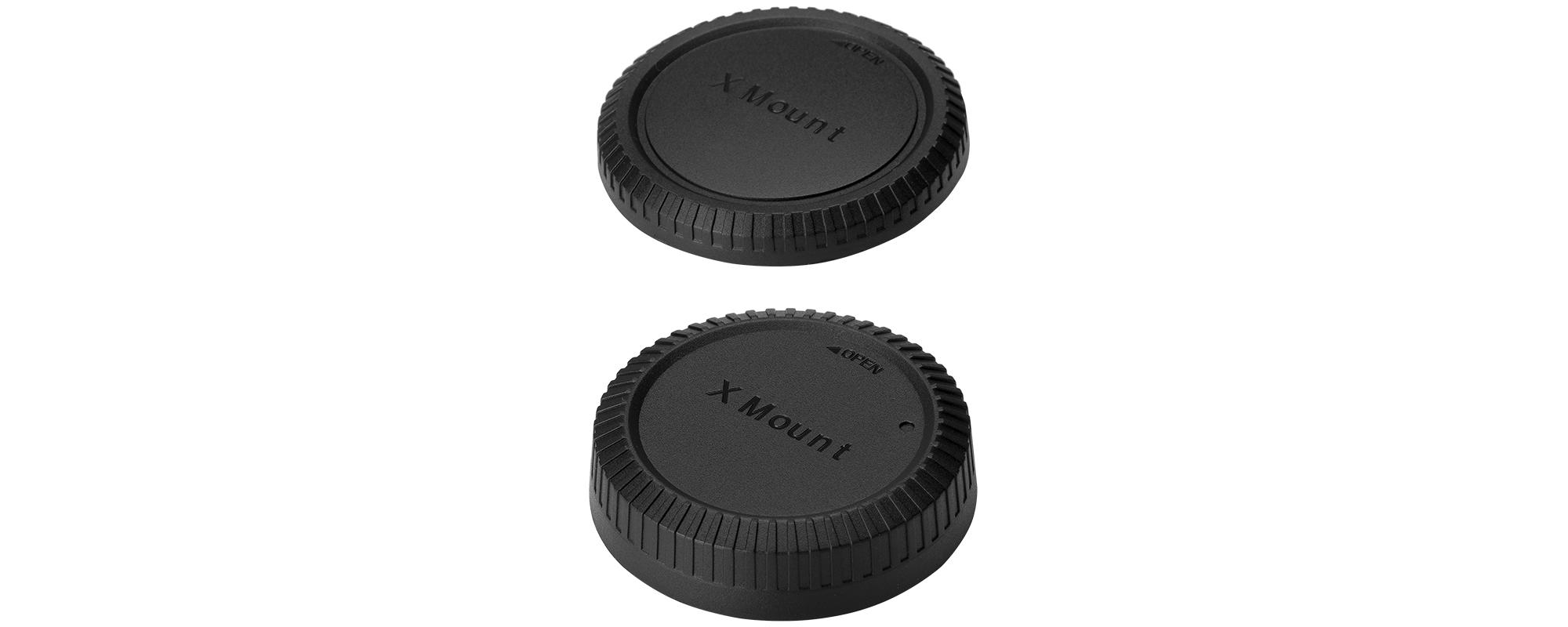 Zestaw dekielków JJC L-R14 na tył obiektywu i korpus aparatu - Fujifilm X