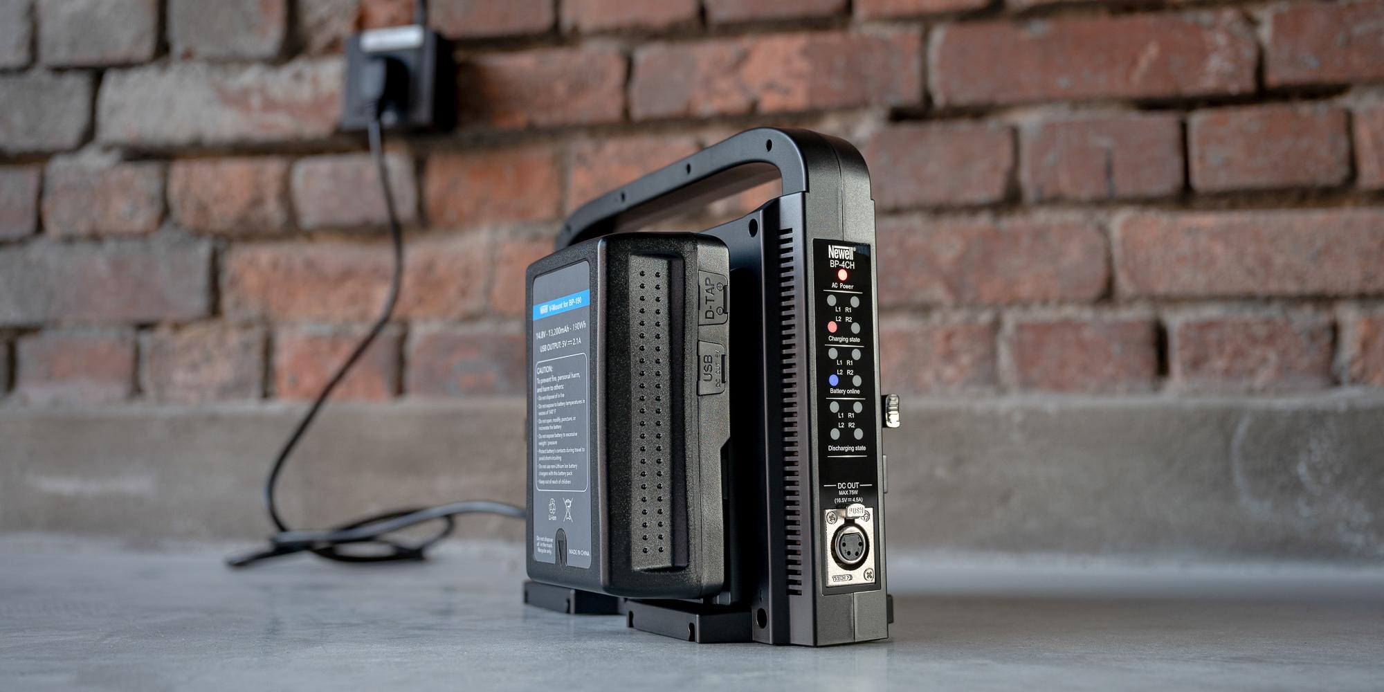 Ładowarka czterokanałowa Newell BP-4CH do akumulatorów V-mount