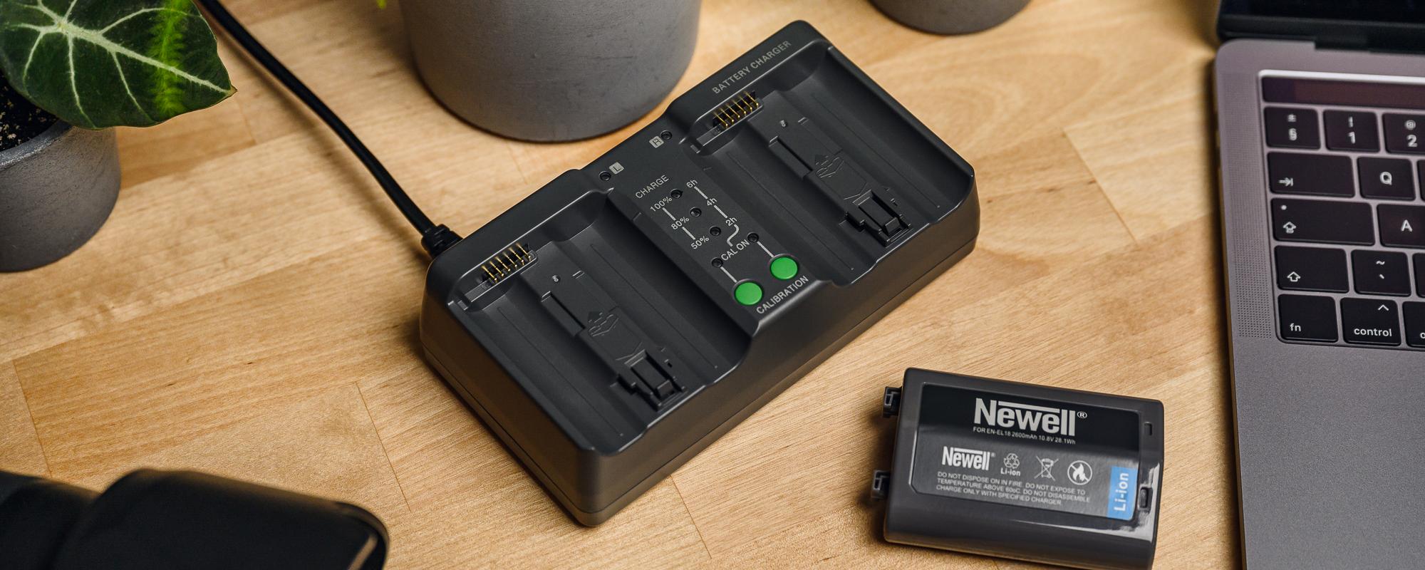 Ładowarka dwukanałowa Newell BC-18B do akumulatorów EN-EL18