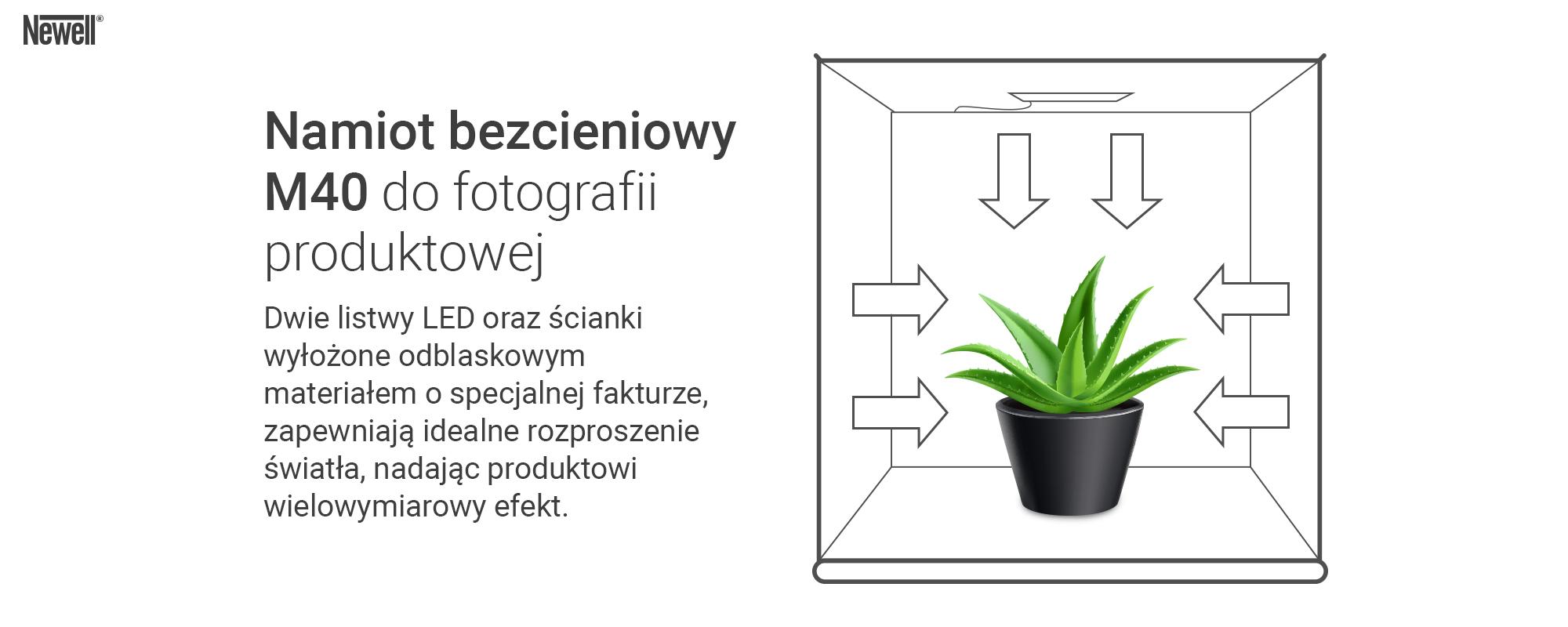 Grafika - Namiot bezcieniowy Newell M40 do fotografii produktowej_02.jpg