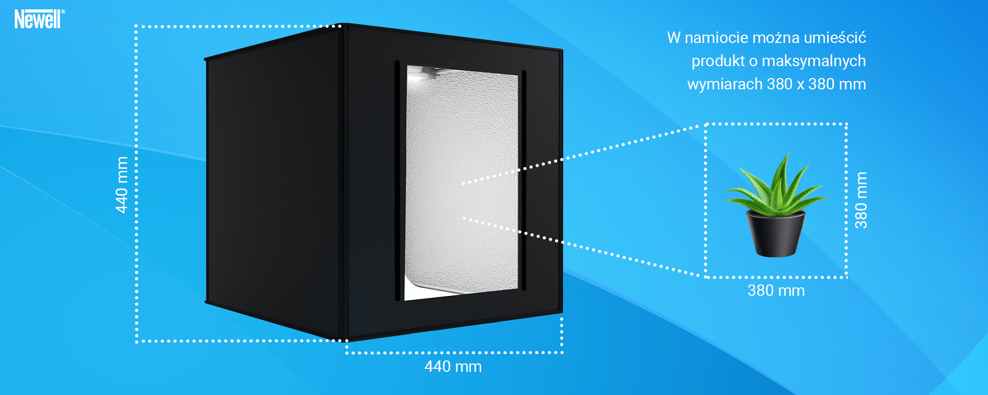 Grafika - Namiot bezcieniowy Newell M40 do fotografii produktowej_04.jpg