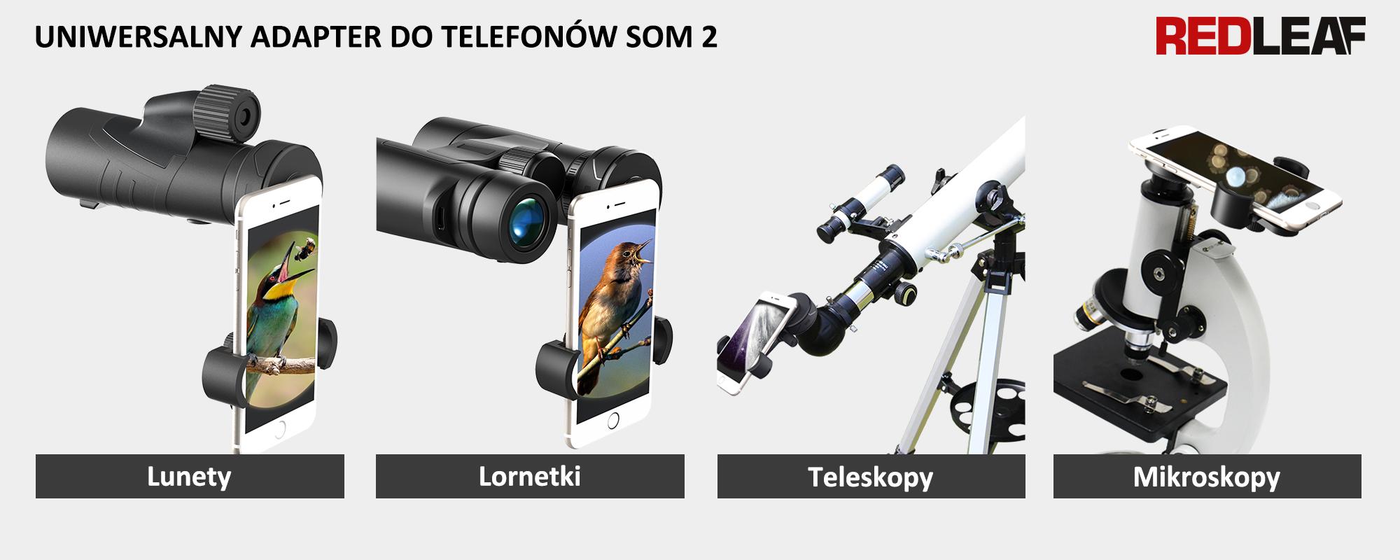 Grafika - Adapter Redleaf SOM-2 do montażu smartfonów na lunetach, teleskopach i mikroskopach_01.jpg