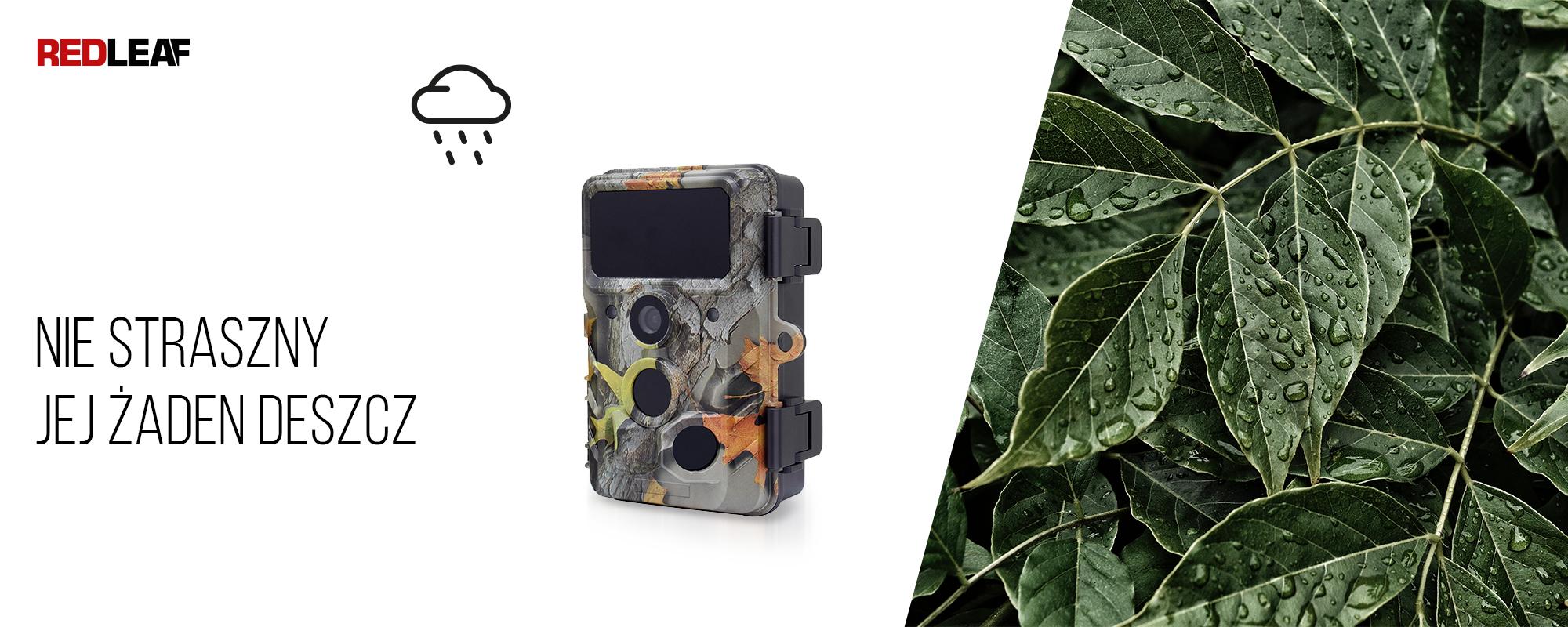 Kamera obserwacyjna Redleaf RD3019 Pro oraz mokre liście
