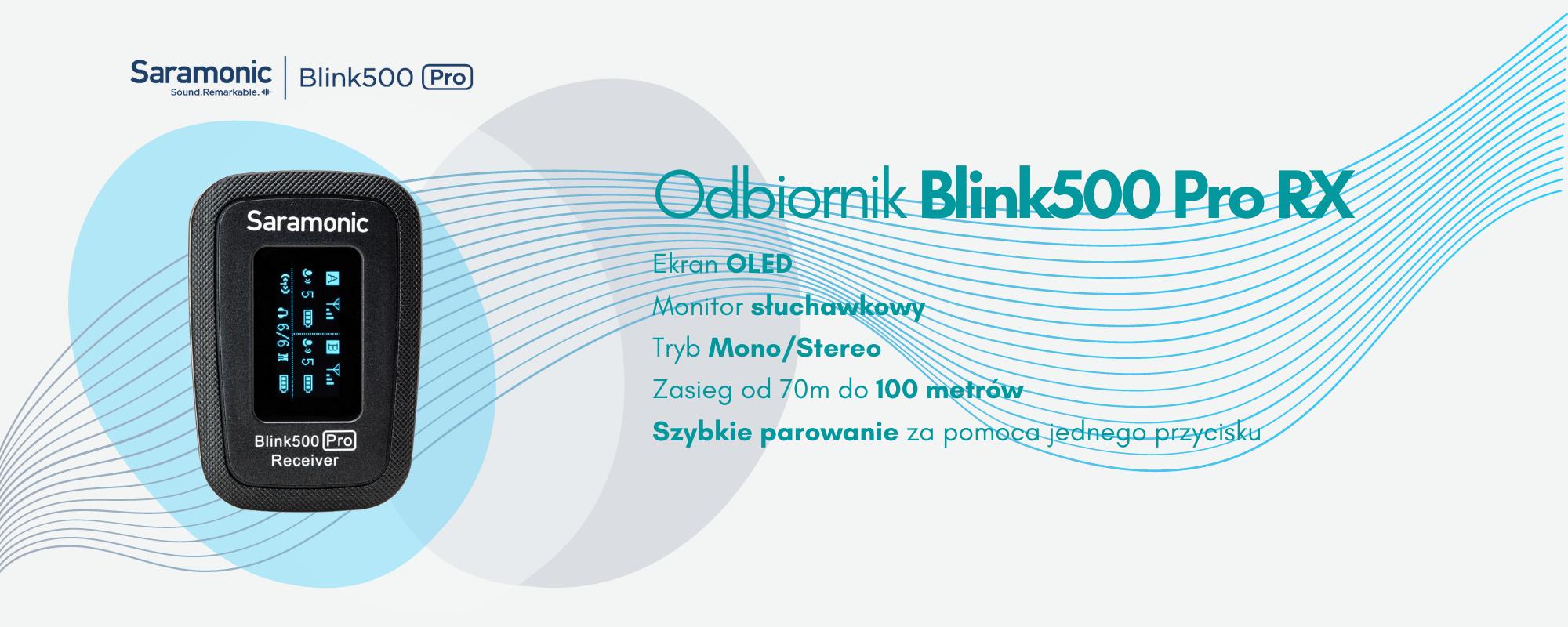 Dwukanałowy odbiornik Saramonic Blink500 Pro RX