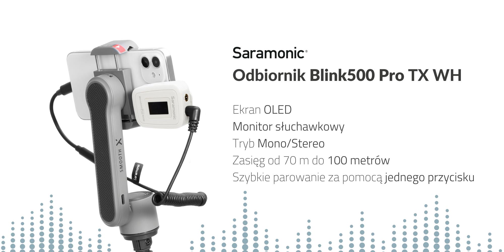 Dwukanałowy odbiornik Saramonic Blink500 Pro RXWH
