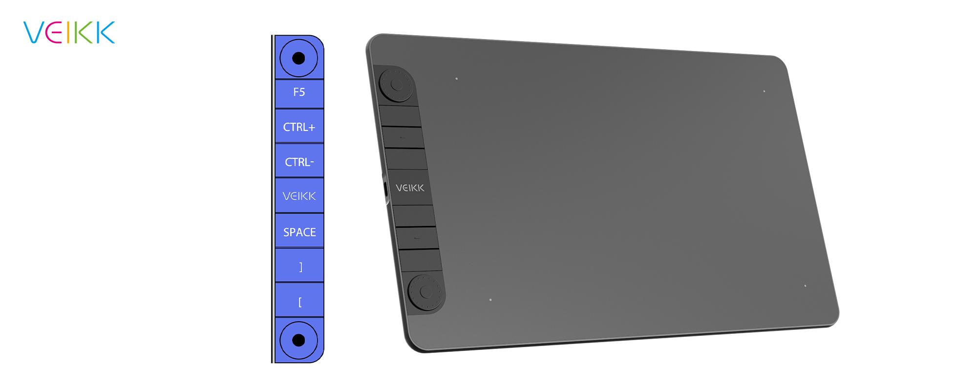 Tablet graficzny Veikk VK1060 Pro - 8 programowalnych przycisków