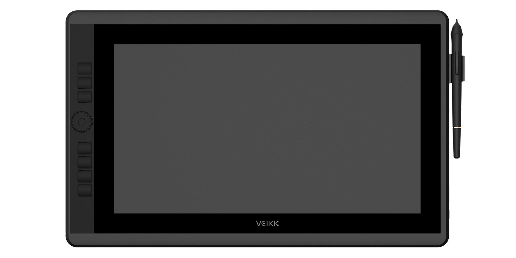 Zdjęcie - tablet graficzny z ekranem LCD Veikk VK1560 Pro oraz piórko na białym tle