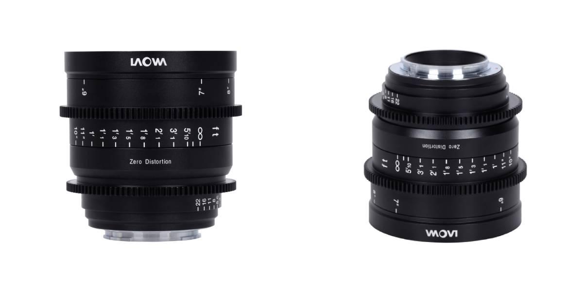 Obiektyw Venus Optics Laowa 15 mm T2,1 Zero-D do Sony E na białym tlle