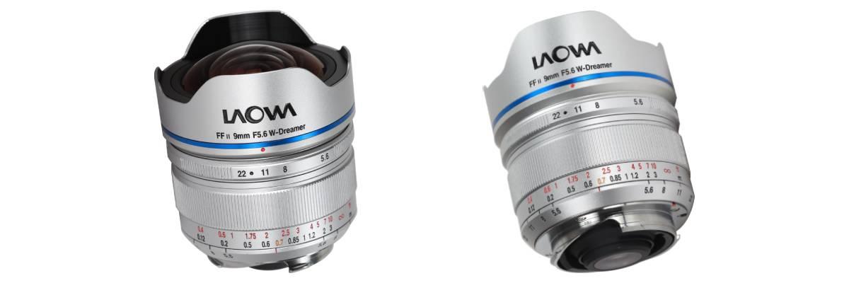 Obiektyw Laowa 9 mm f/5,6 FF RL na białym tle
