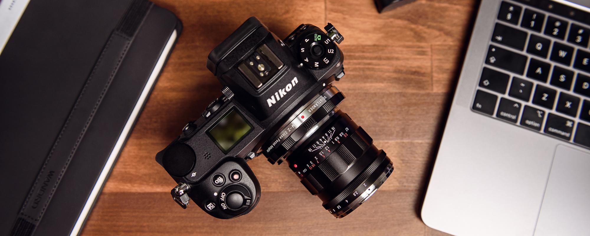 Voigtlander APO Lanthar 50mm f/2.0 lens for Leica M on camera