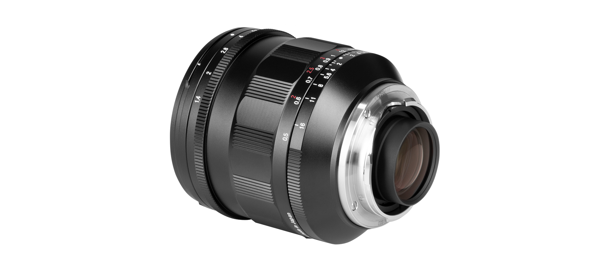 Voigtlander Nokton 21 mm f/1.4 lens with Leica M mount bayonet lens