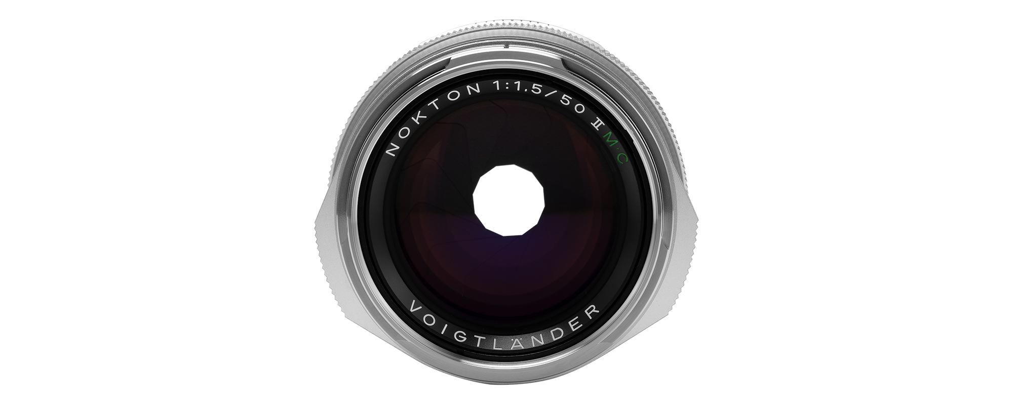 Voigtlander Nokton II 50 mm f/1.5 lens for Leica M - MC, silver