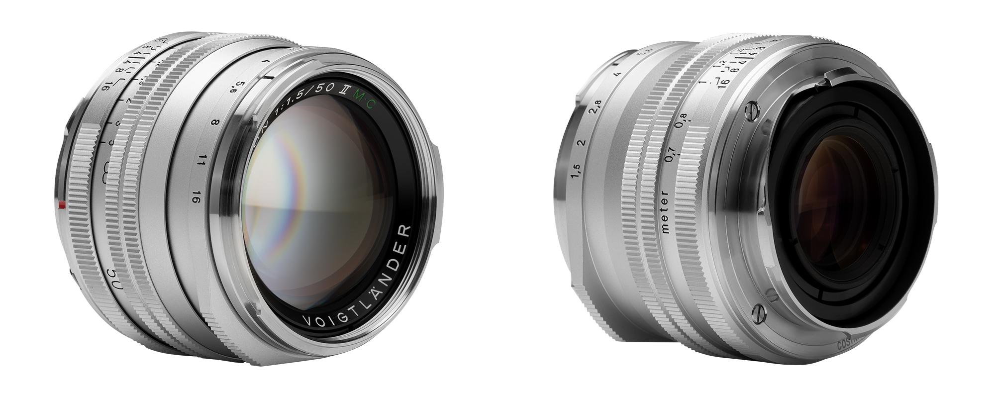 Voigtlander Nokton II 50 mm f/1.5 lens for Leica M - front and back