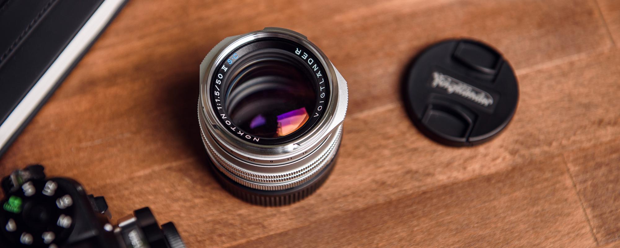 Voigtlander Nokton II 50 mm f/1.5 lens for Leica M - SC coating