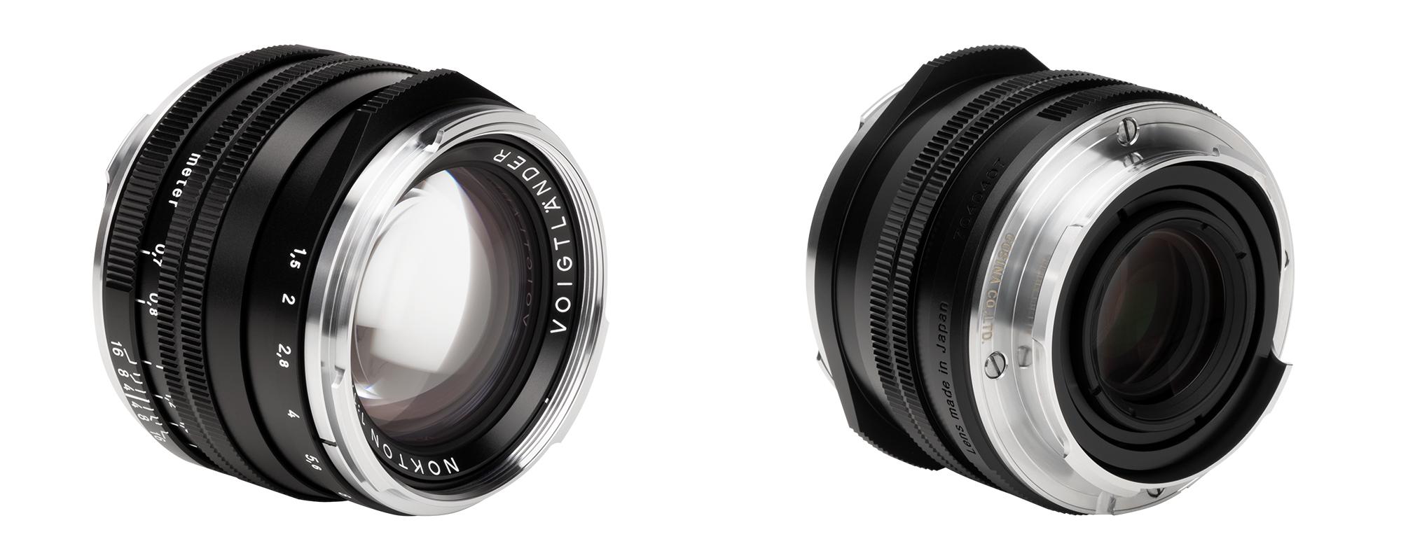 Obiektyw Voigtlander Nokton II 50 mm f/1,5 do Leica M - z przodu i z tyłu