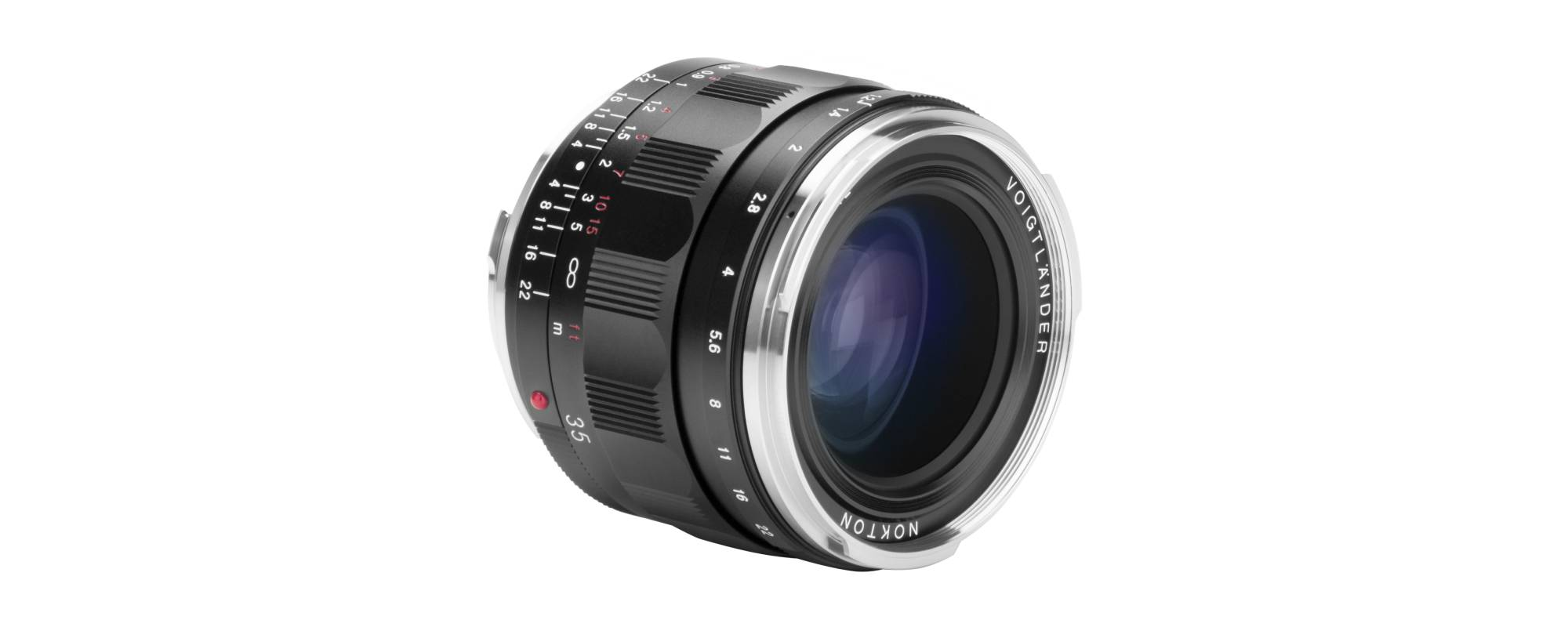 Voigtlander Nokton III 35mm f/1.2 lens for Leica M front view