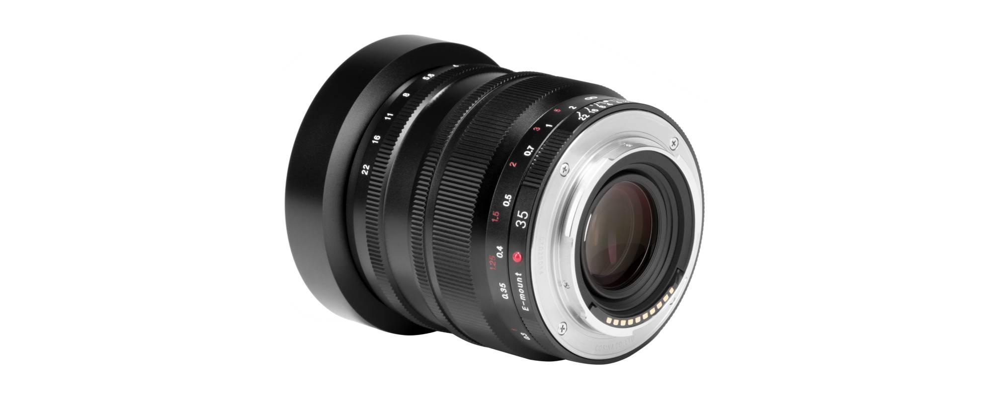 Obiektyw Voigtlander Nokton SE 35 mm f/1,2 do Sony E widok z tyłu na bagnet