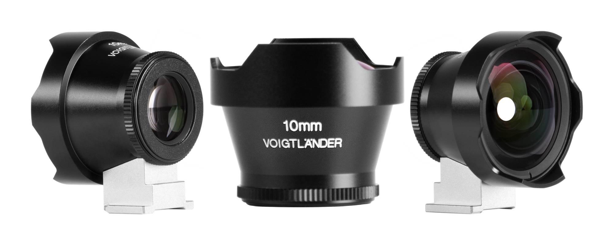 Wizjer Voigtlander Viewfinder - 10 mm - widok z przodu oraz z boku