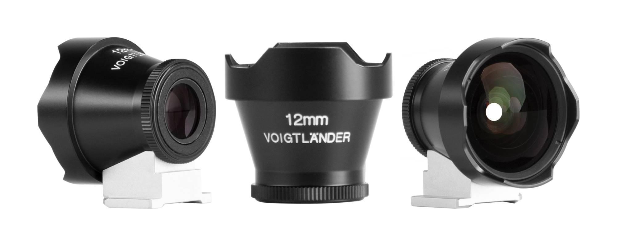 Wizjer Voigtlander Viewfinder - 12 mm - widok z przodu oraz z boku