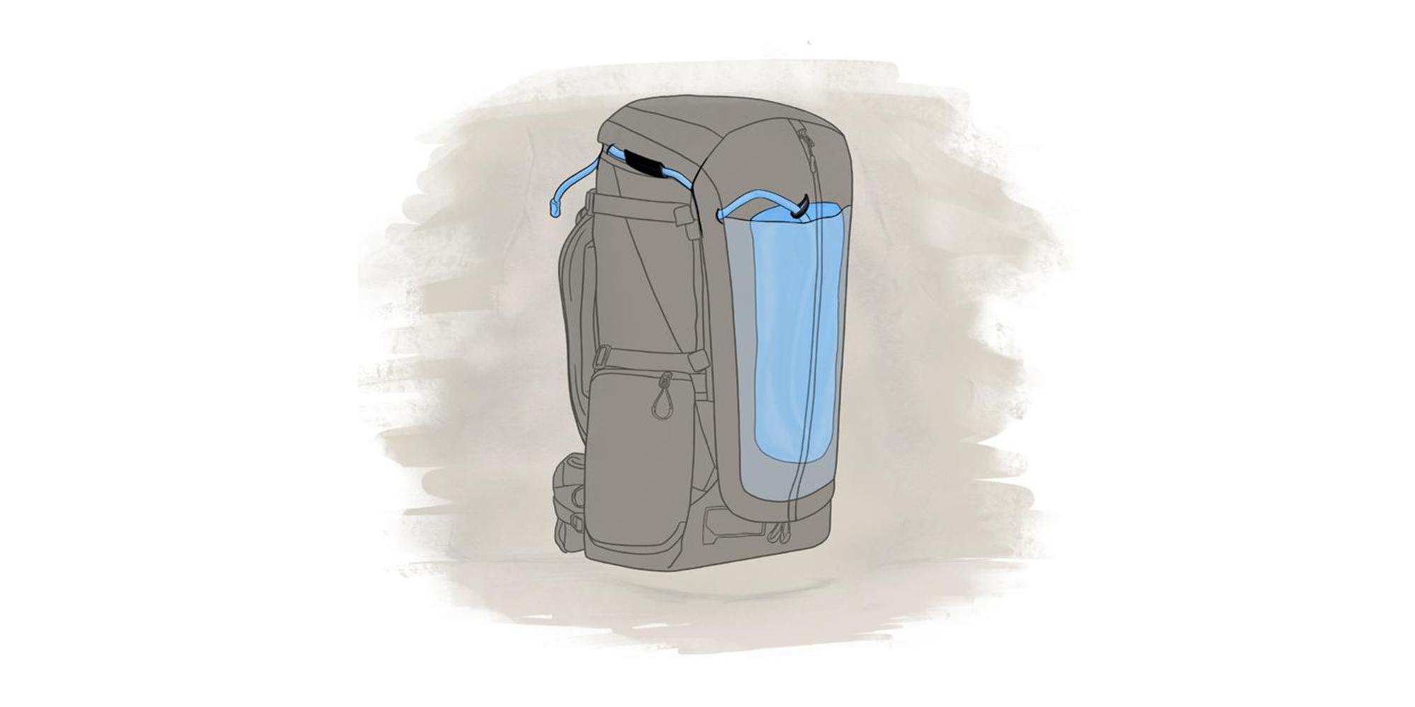 Wandrd Fernweh trekking backpack - space for bottle