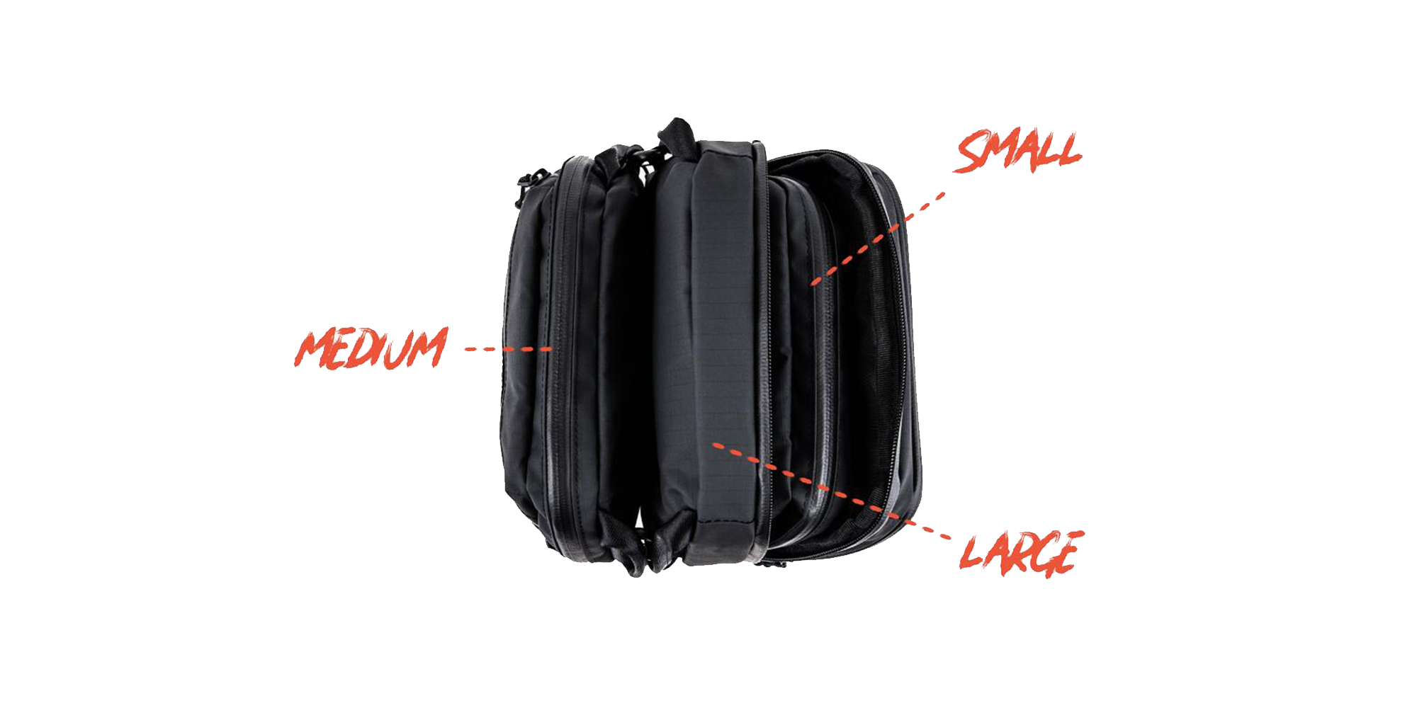 Wandrd Tech Pouch Large, Medium and Small