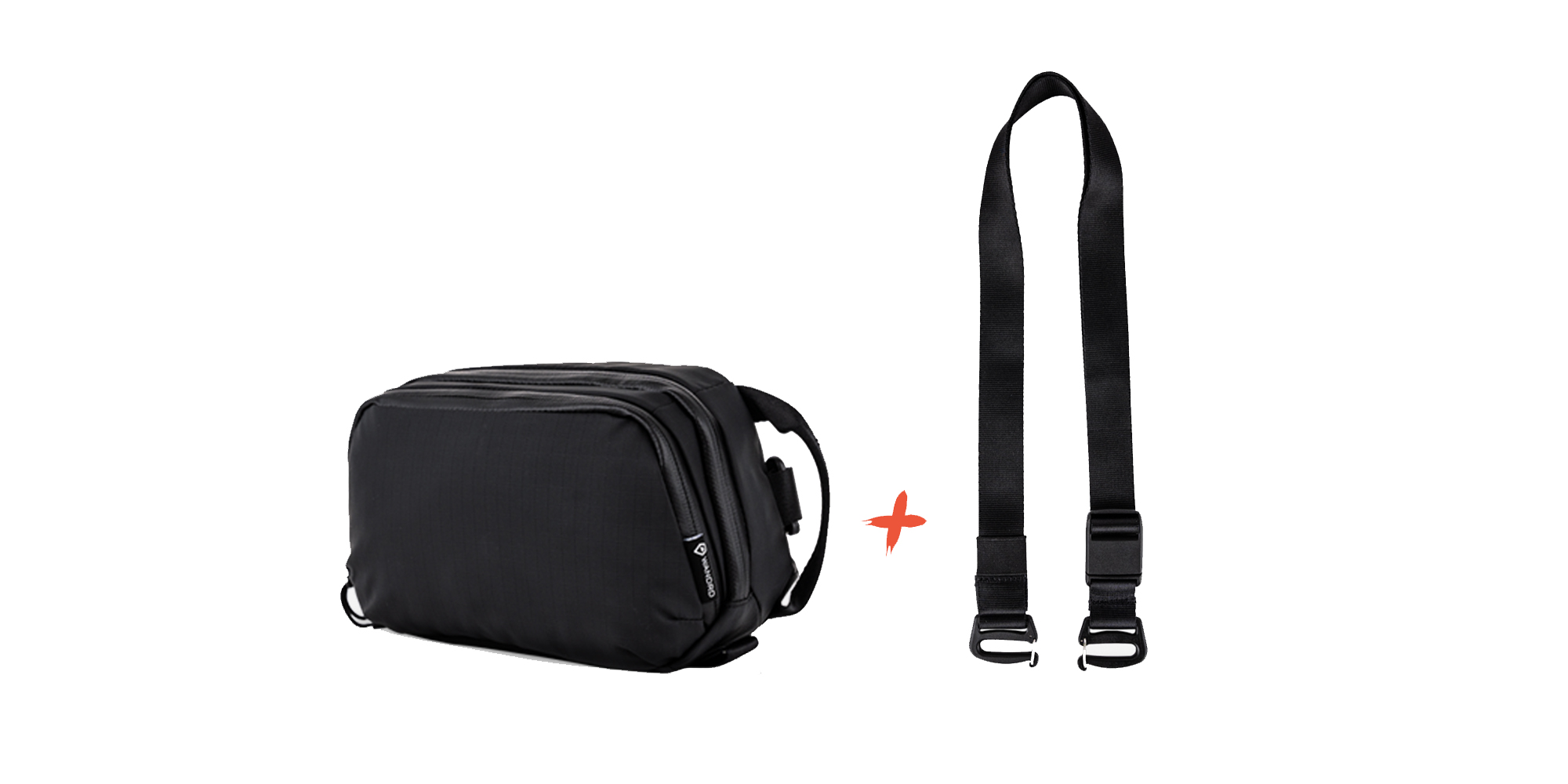 Wandrd Tech Pouch Large and optional accessory strap