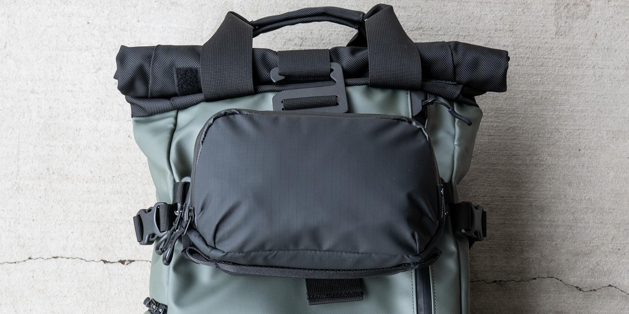 Wandrd Tech Pouch Large on Prvke Backpack
