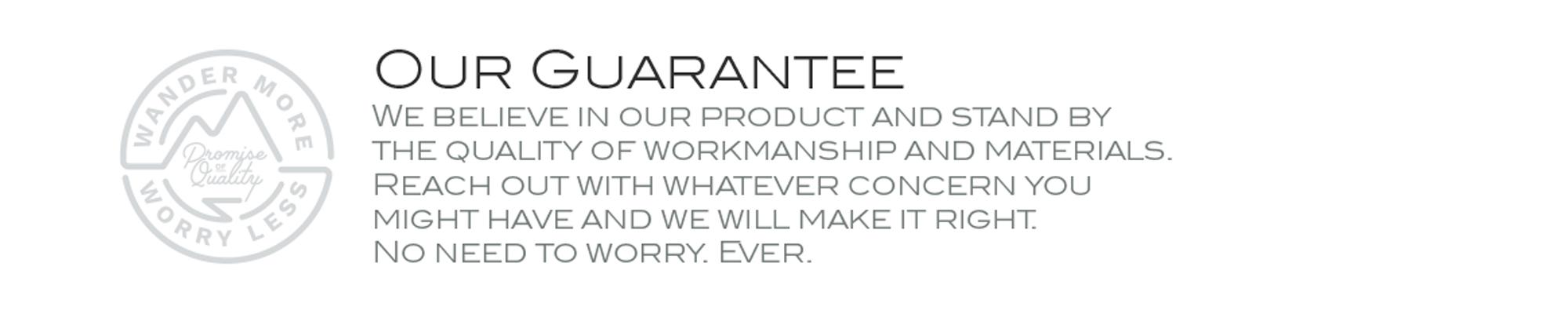 Wandrd Lifetime Warranty