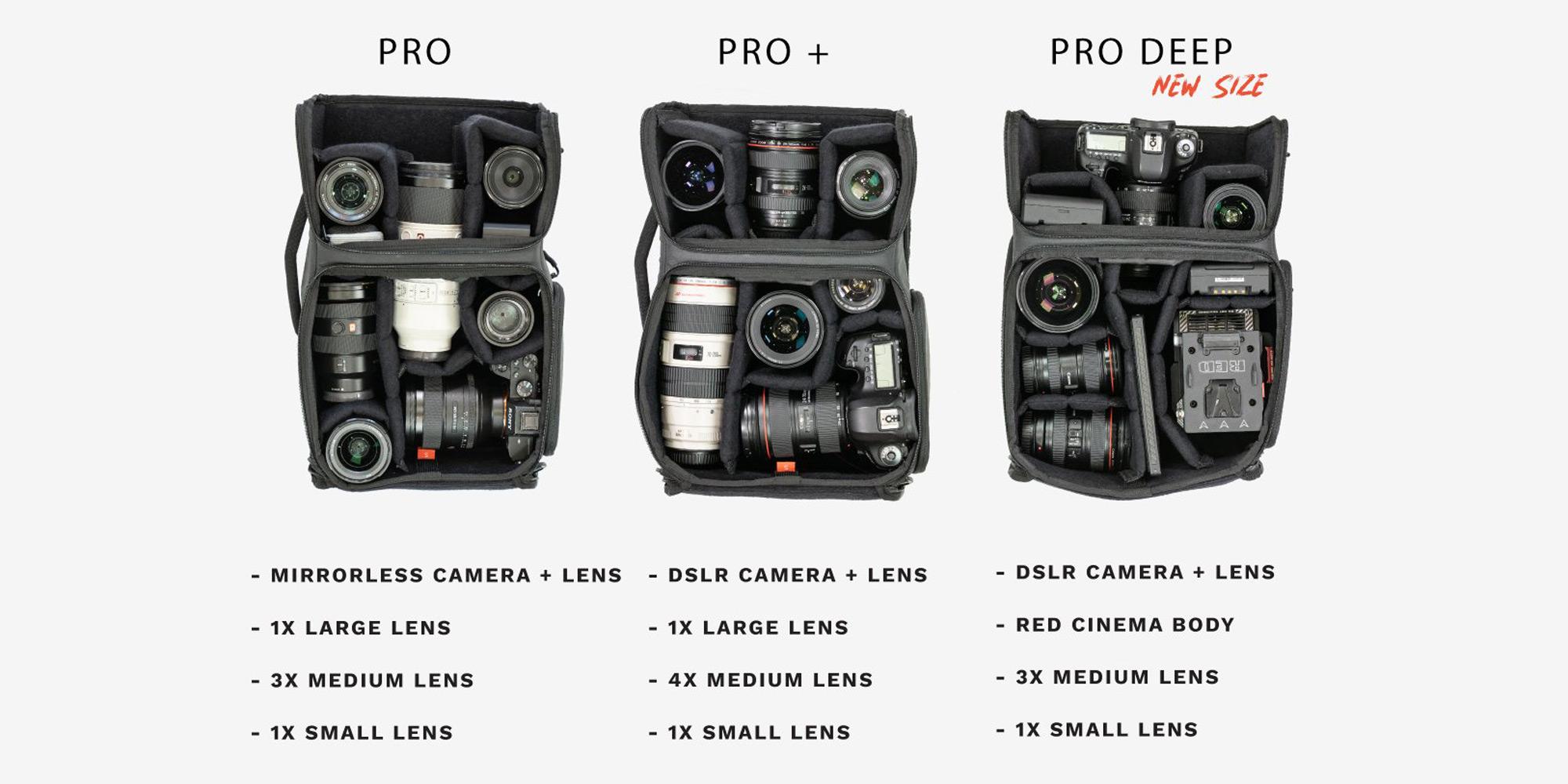 Wandrd Camera Cube Pro Deep - Capacity