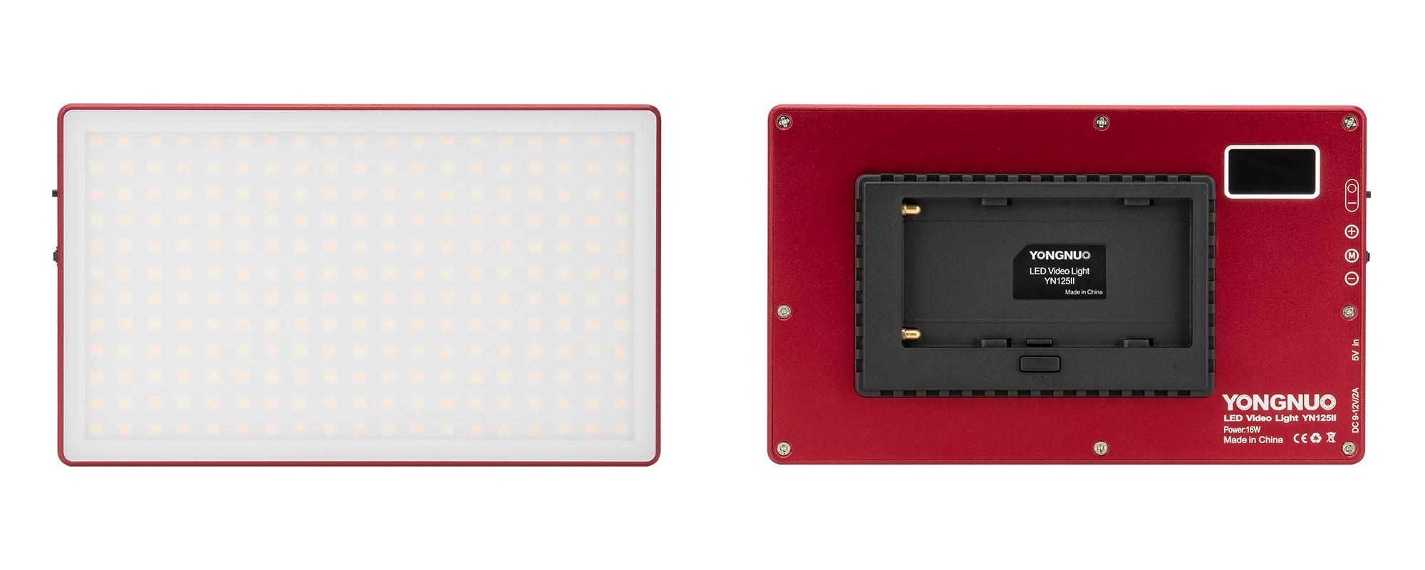Lampa LED Yongnuo YN125 II - WB (3200 K - 5600 K), czerwona