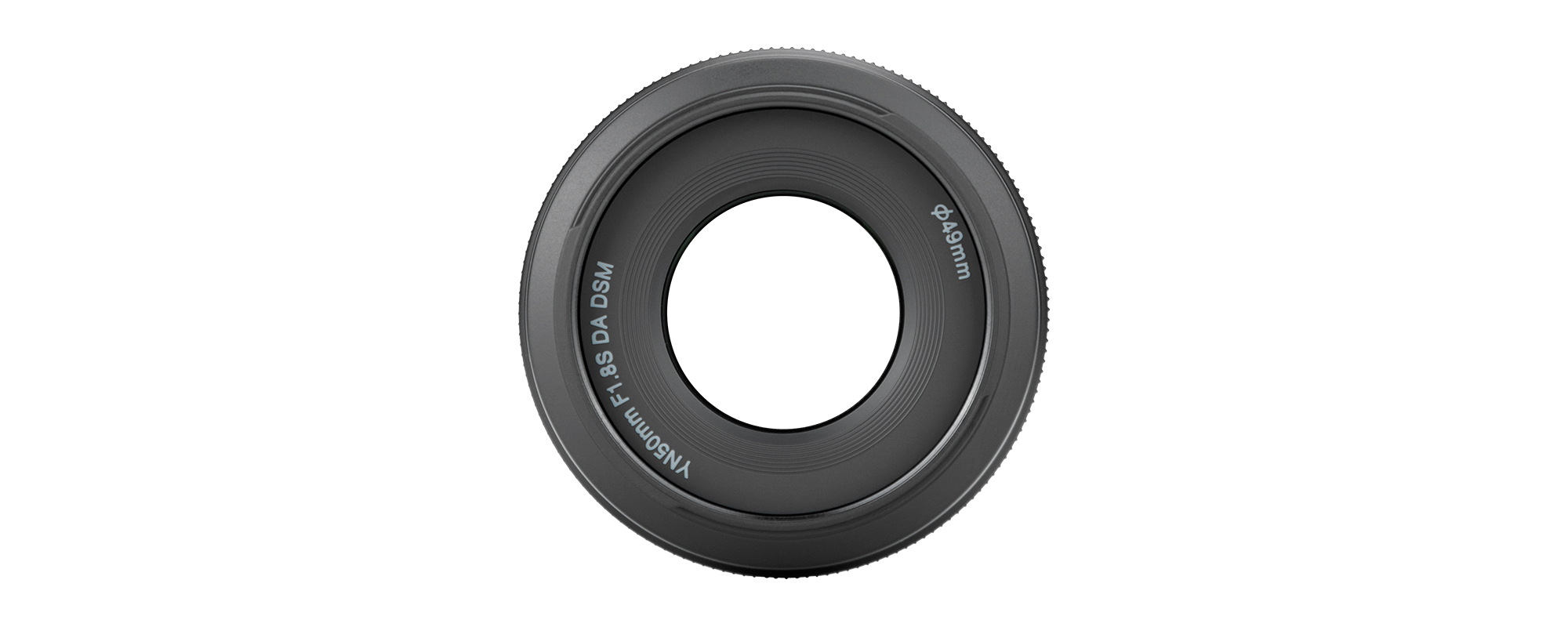 Obiektyw Yongnuo YN 50 mm f/1,8 do Sony E widok z góry