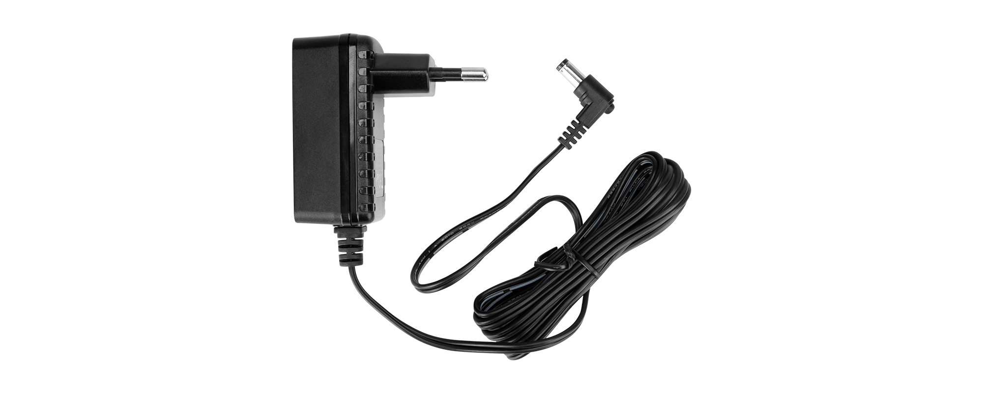Yongnuo FJ-SW126G1202000E AC Power Adapter - 12 V / 2 A, DC 5.5 / 2.5 mm plug top view of entire kit