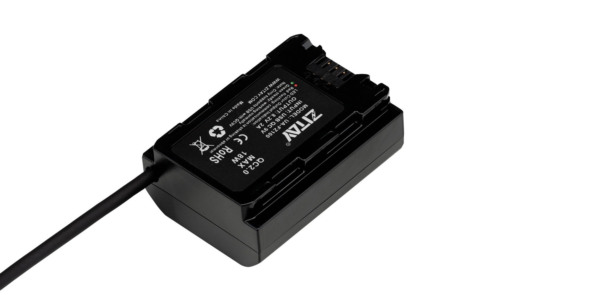 Adapter zasilania Zitay USB do NP-FZ100 - Kontrola prawidłowego zasilania