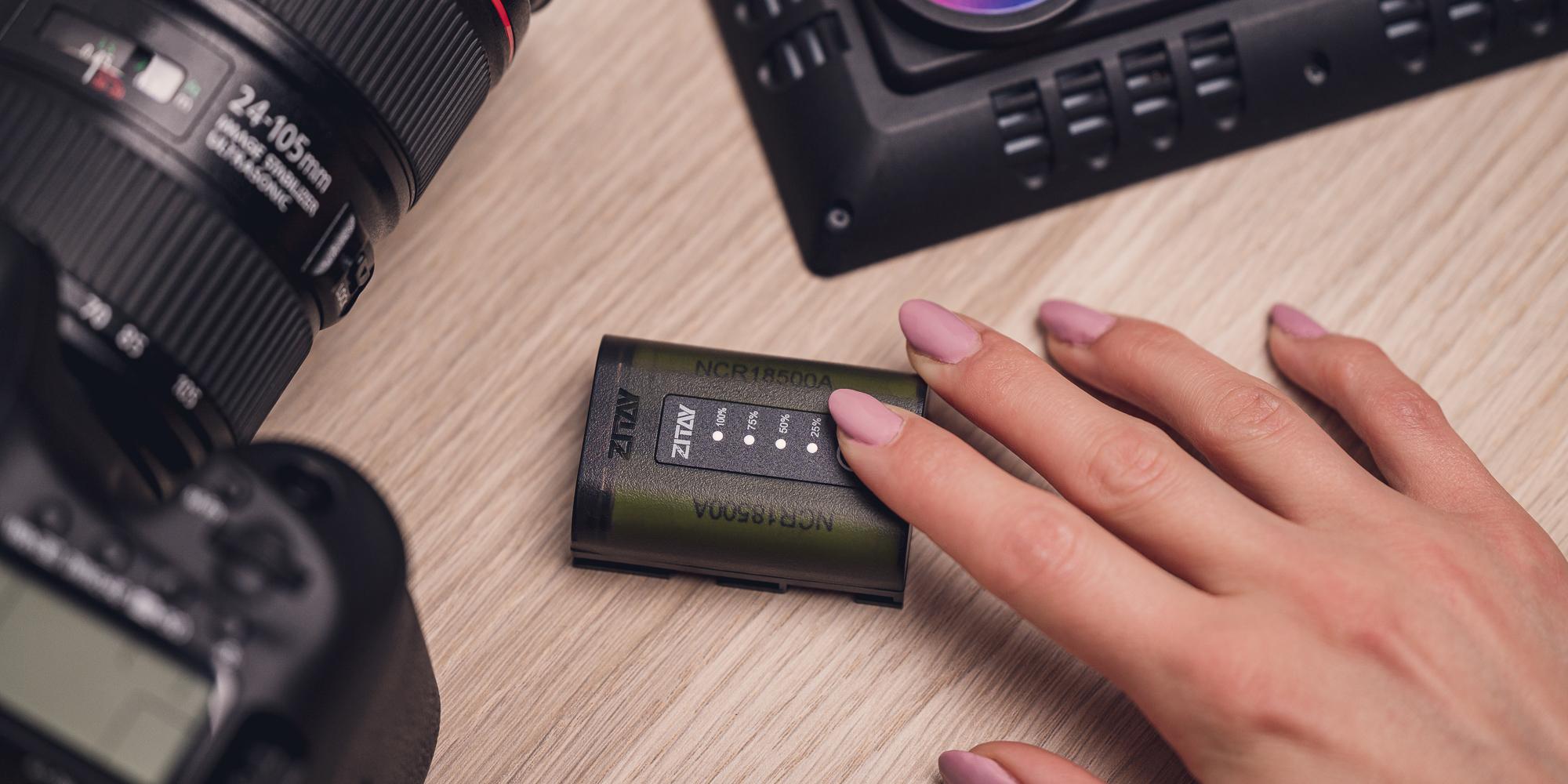 Akumulator Zitay zamiennik LP-E6 - Wskaźnik poziomu naładowania