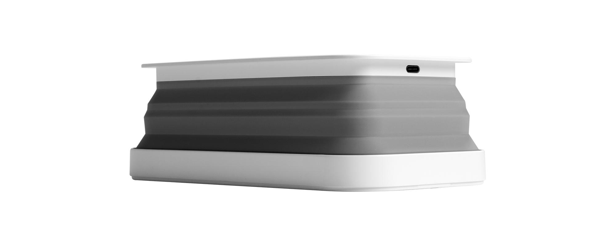 Sterylizator UV rock space XW01 z ładowarką bezprzewodową - grafika z logo